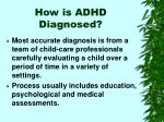 how is adhd diagnosed