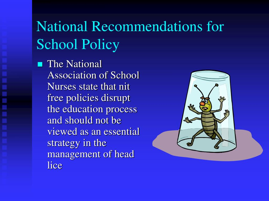National Recommendations for School Policy