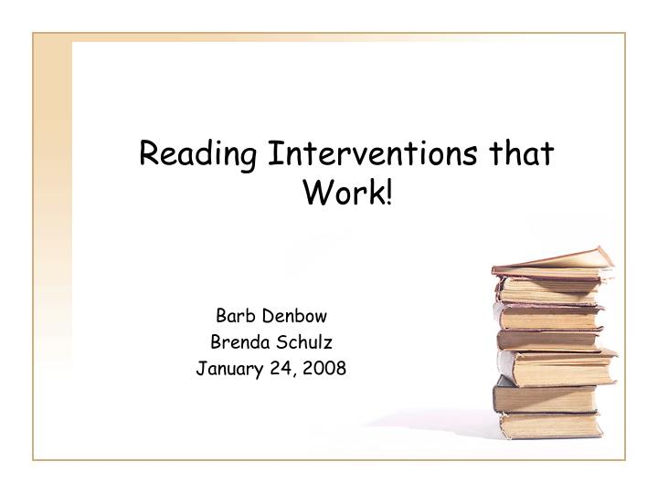 reading interventions that work n.