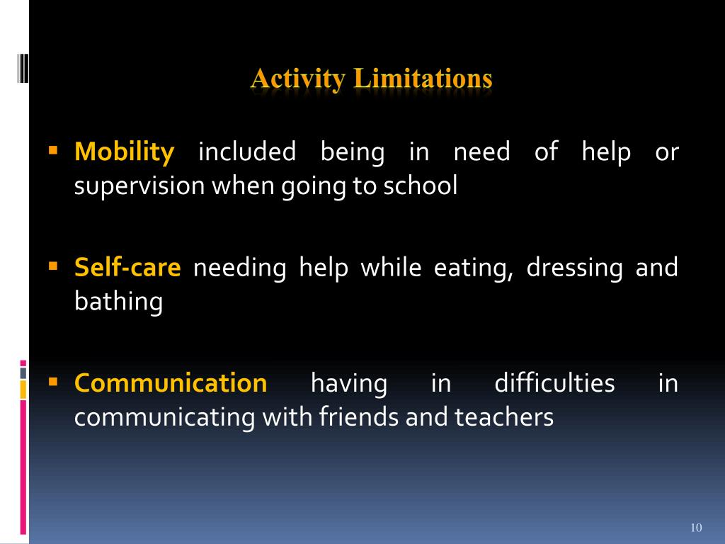 Activity Limitations