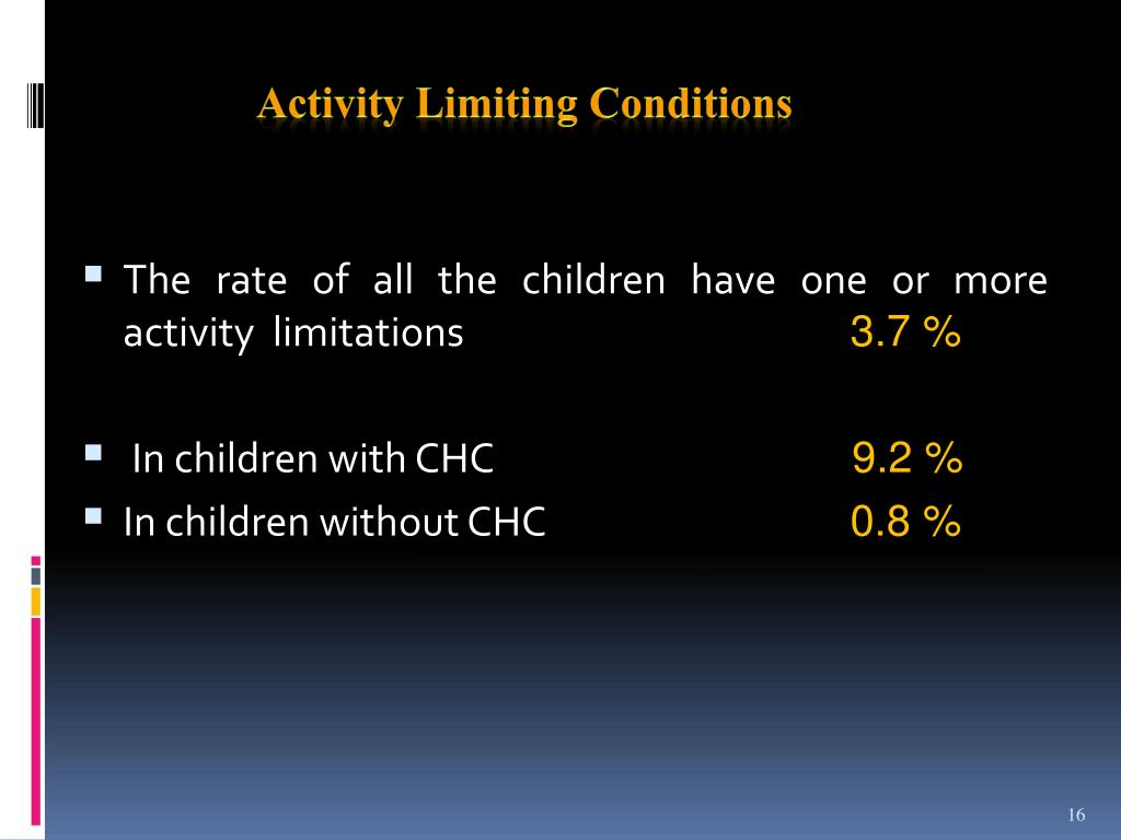 Activity Limiting Conditions