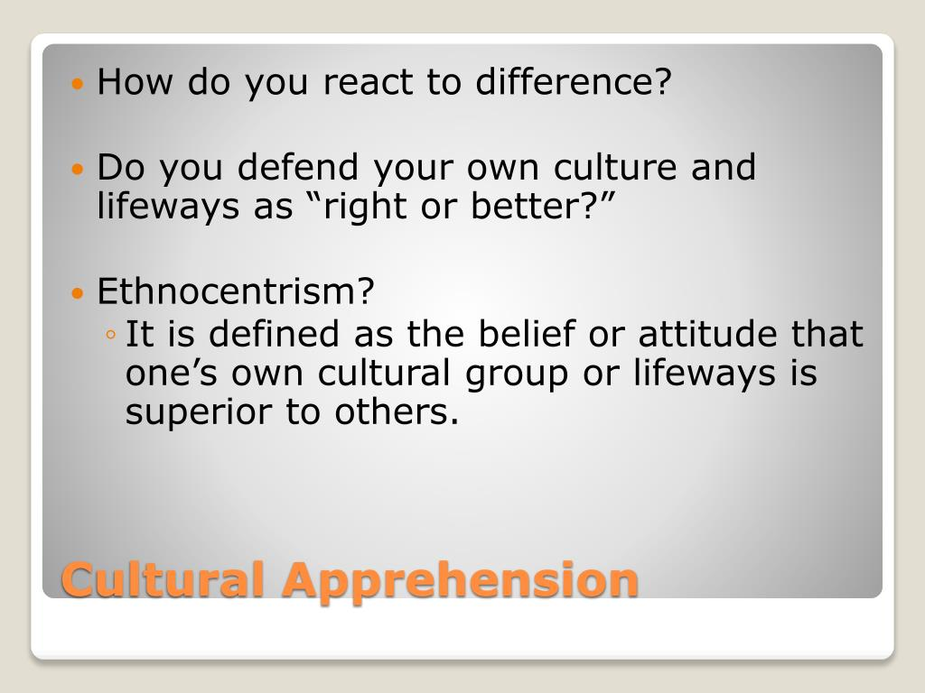 How do you react to difference?