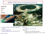 rhic @ brookhaven national laboratory
