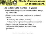 effects of homelessness on children cont9