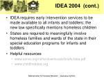 idea 2004 cont