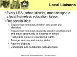 local liaisons