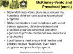 mckinney vento and preschool cont