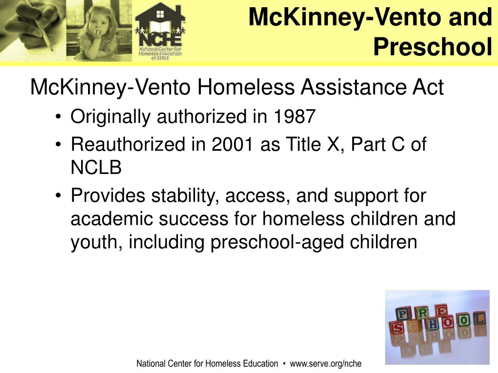 McKinney-Vento and Preschool