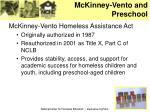 mckinney vento and preschool