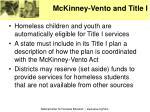 mckinney vento and title i