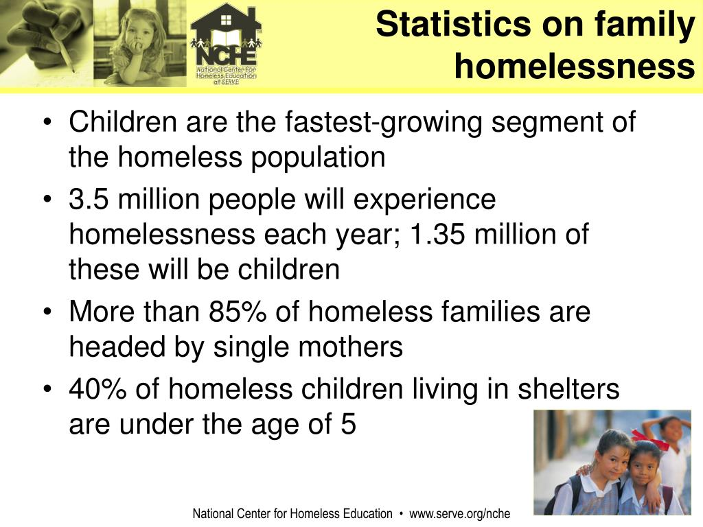 Statistics on family homelessness