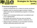 strategies for serving cont28