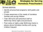 strategies for serving homeless preschoolers