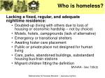 who is homeless