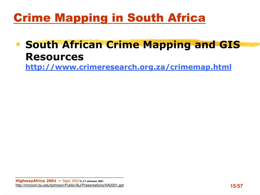 Crime Mapping in South Africa