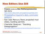 how editors use gis