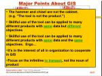 major points about gis