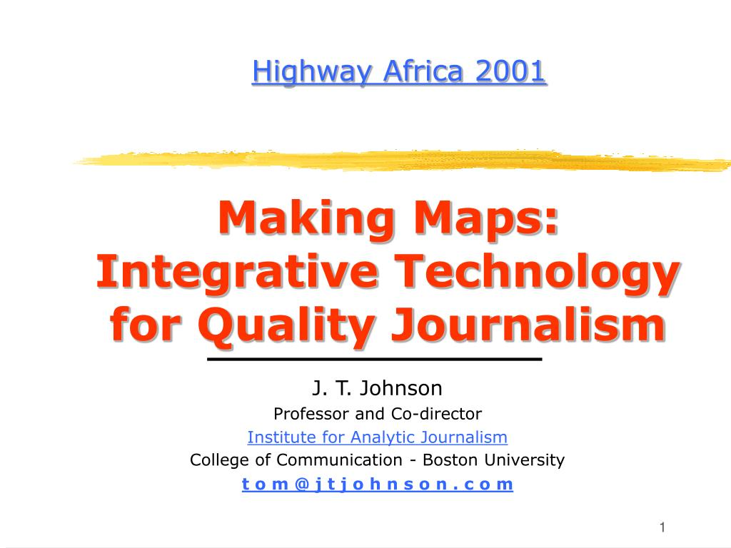 making maps integrative technology for quality journalism l.