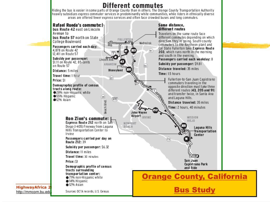 Orange County, California Bus Study