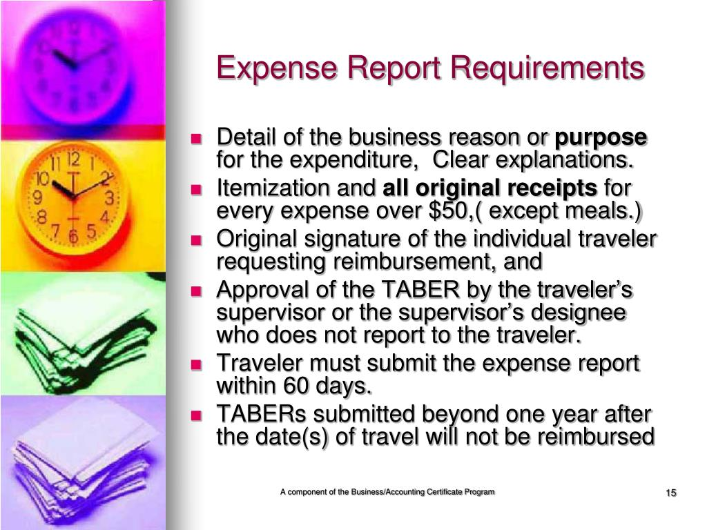 Expense Report Requirements