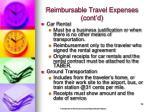 reimbursable travel expenses cont d18