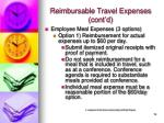 reimbursable travel expenses cont d19