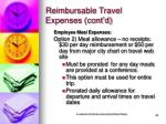 reimbursable travel expenses cont d20