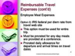 reimbursable travel expenses cont d21