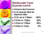 reimbursable travel expenses cont d23