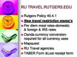 ru travel rutgers edu