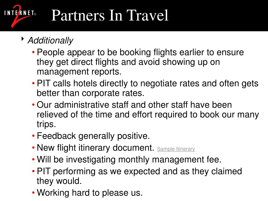 Partners In Travel