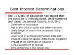 best interest determinations
