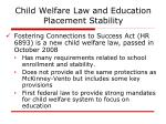 child welfare law and education placement stability