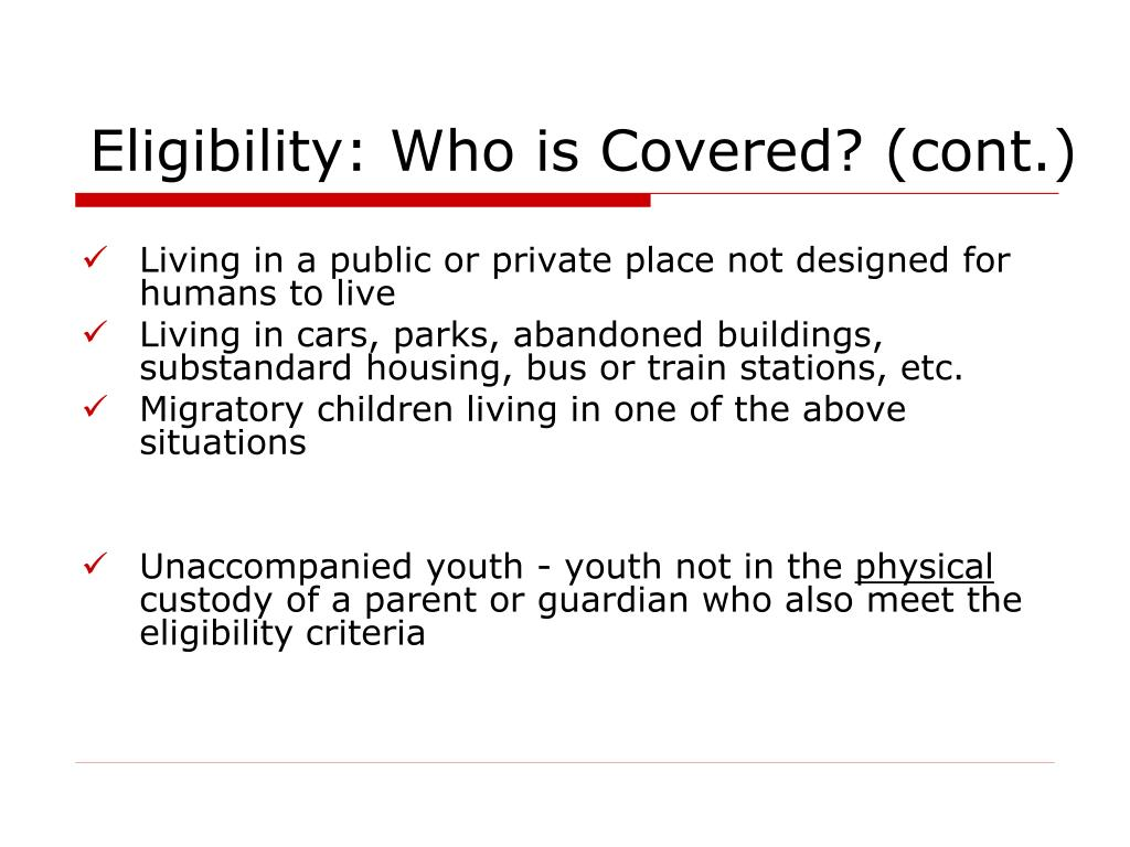 Eligibility: Who is Covered? (cont.)