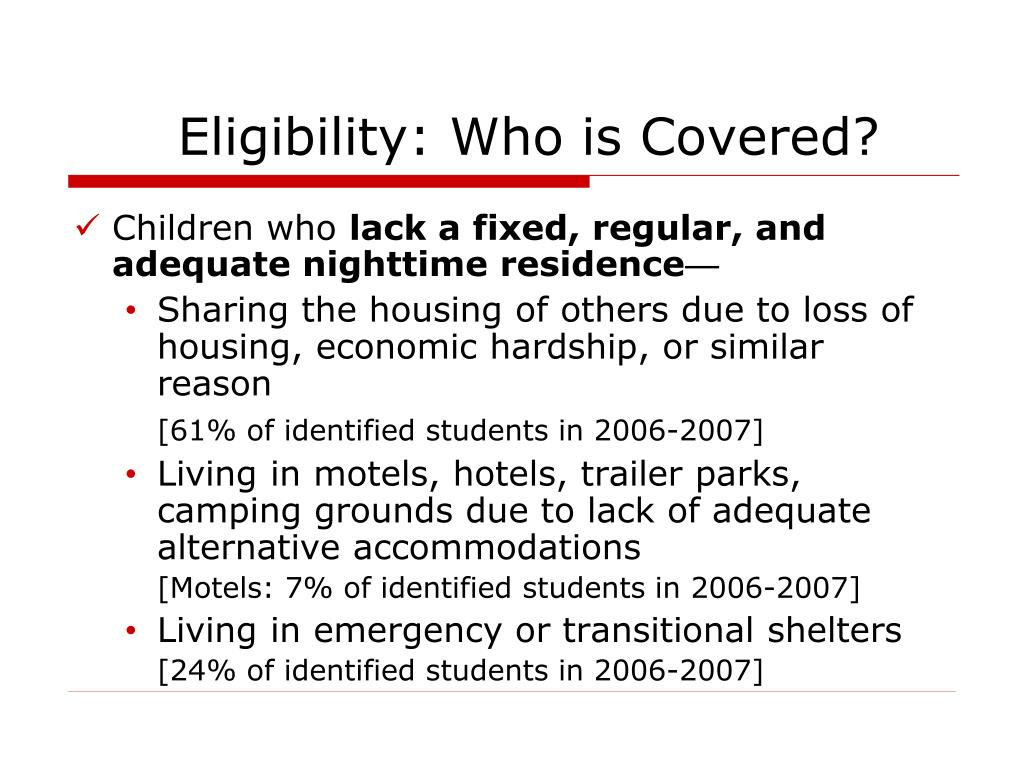 Eligibility: Who is Covered?