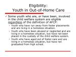 eligibility youth in out of home care20