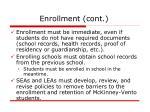 enrollment cont
