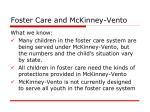 foster care and mckinney vento