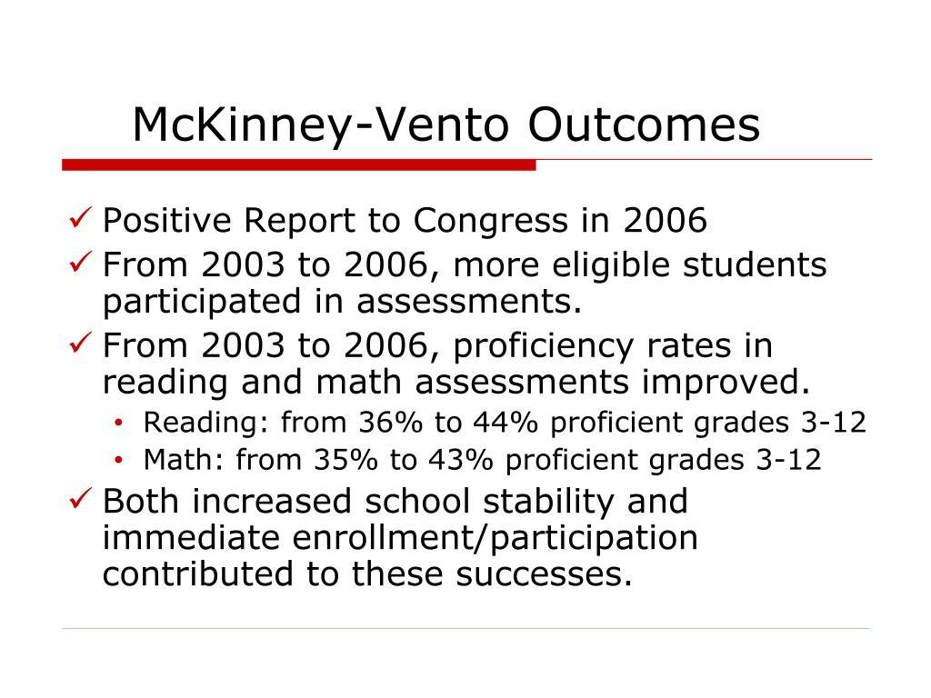 McKinney-Vento Outcomes
