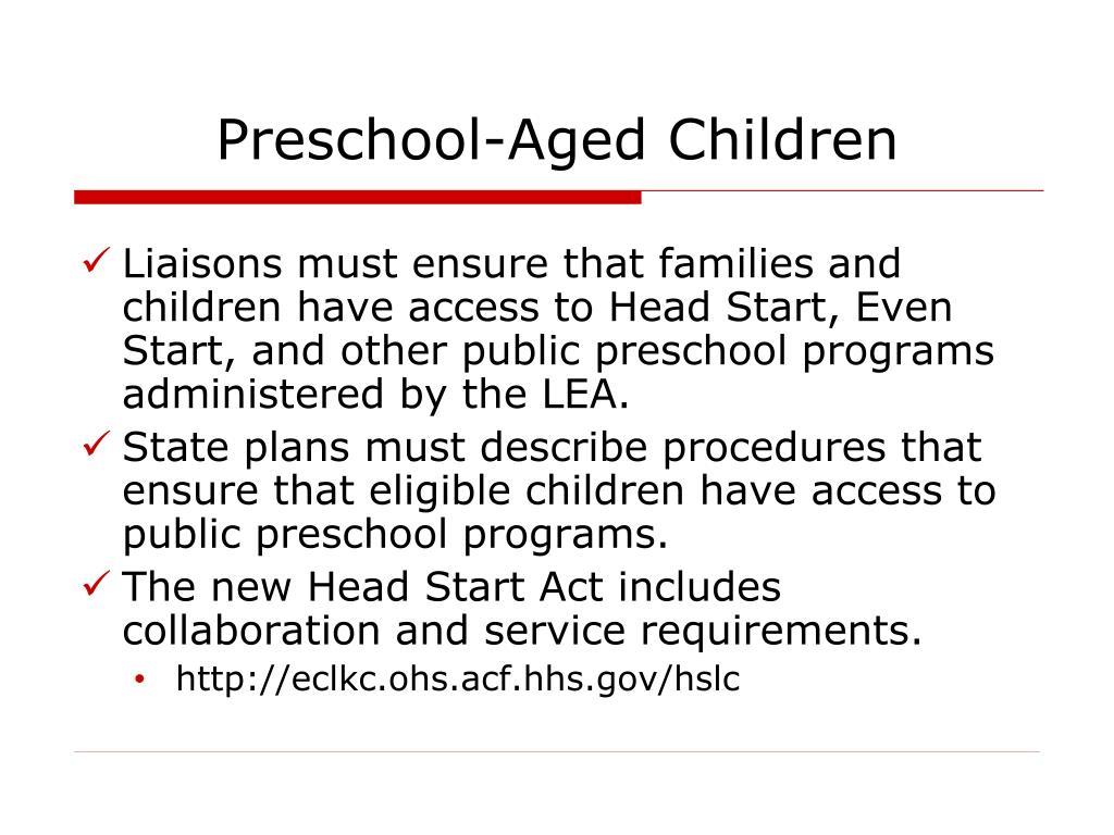Preschool-Aged Children