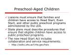 preschool aged children