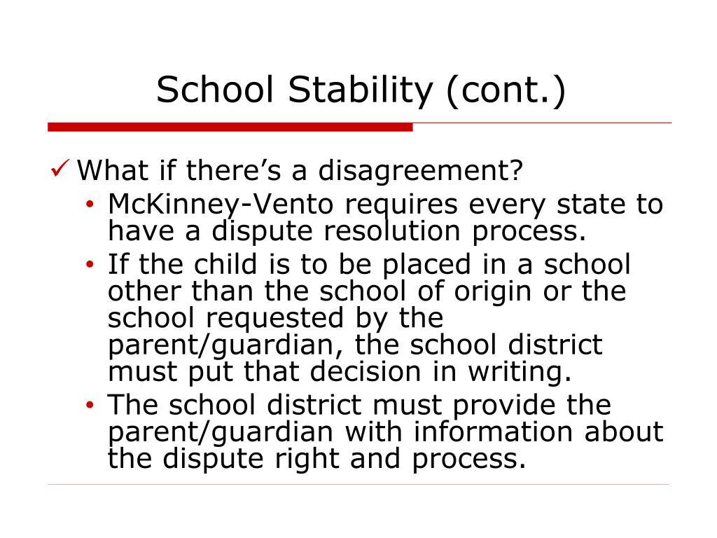 School Stability