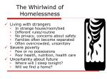 the whirlwind of homelessness