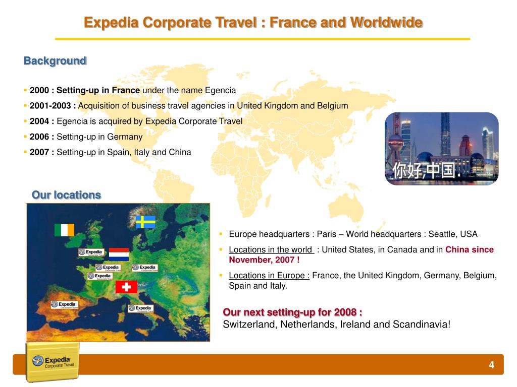 Expedia Corporate Travel : France and Worldwide