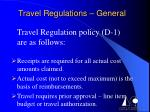 travel regulations general