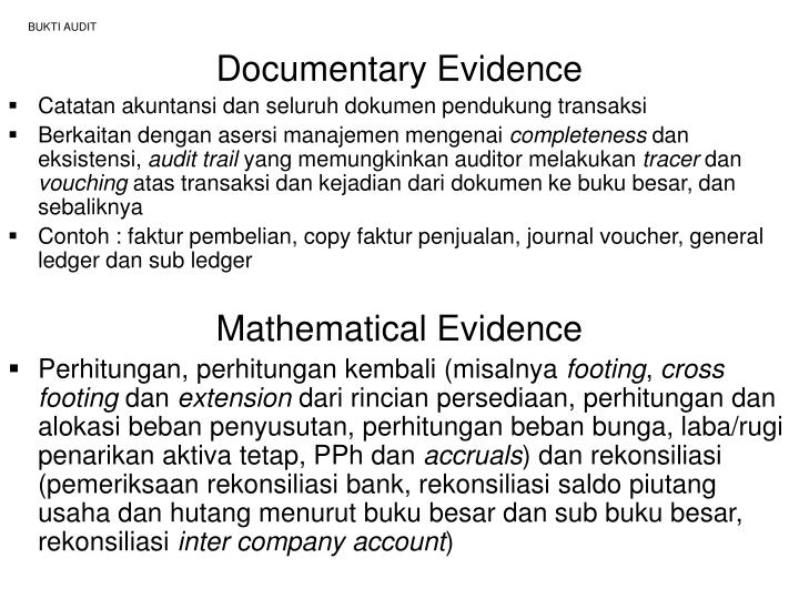 Ppt Bukti Audit Audit Evidence Powerpoint Presentation Free Download Id 681774