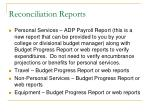 reconciliation reports