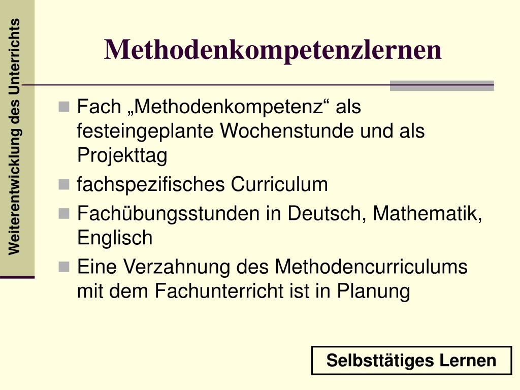 Methodenkompetenzlernen