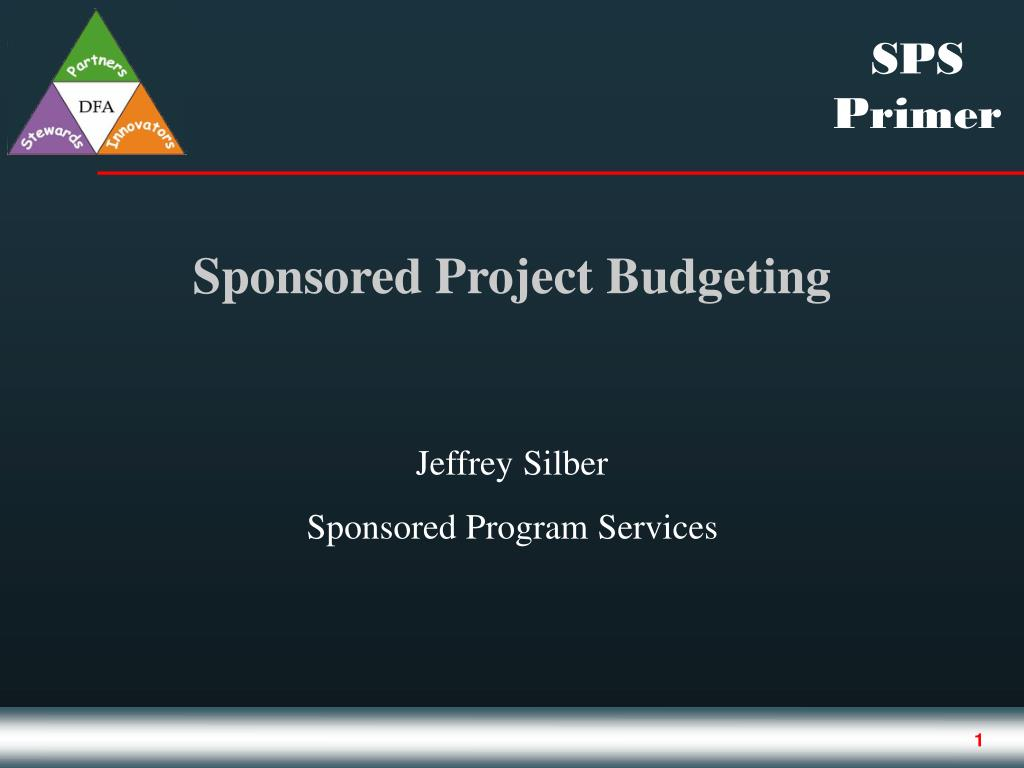 sponsored project budgeting l.