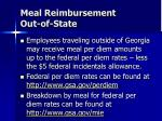 meal reimbursement out of state